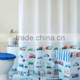 11 pcs set coordinate bathroom Set with Hamper/shower curtain/bath mat/PP bath accessories set