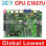 C1037U mini motherboard MINI ITX Industrial mainboard DDR3 memory with VGA/HDMI/USB port Fanless