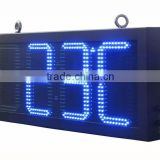 "Factory supply 8"" 10"" 12"" 16"" 18"" 20"" 24"" led clock temperature display/led time and temperature signs"