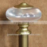 Kids Decorative Elegant Clear Oval Ball Finial & Curtain Rod/Pole; Curtain Hardware; Curtain Accessory; Window Drapery Hardware