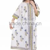 Stylish Women Cotton Long Dress Indian Bhopali Women Long Hippie Loose Dress Sexy Wear Girls Kimono Style Dress