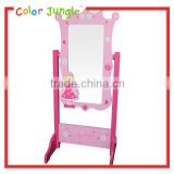 Best quality free floor standing mirror, high quality wood frame stand mirror
