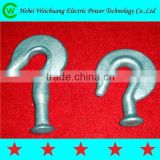 Quality Guaranteed Galvanzied Forged Carbon Steel / Alloy Steel Ball Hook , Pig Tail Hook for Electric Power Fitting