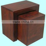 wooden cube nest,sheesham wood furniture,mango wood furniture,wood stool set,ottomans,home furniture,living room furniture