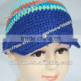 wholesale 100% cotton children hat crochet striped hats free knitting patterns for kids baby boy caps