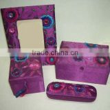Designer Embroidered Handmade Beaded Fabric Photo Frame ~ Box ~Jewelery Boxes ~ Note Book