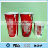 cold drink paper cup with customized logo/ company info/ ingredient/ ads printed with straw/ plastic lid/ sealing film/ foil