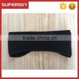 C1287 Custom black polar fleece hook and loop sports headband outdoor activitity ear warmer for men