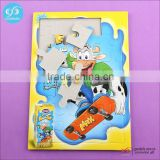 Hot selling custom puzzle games portable jigsaw puzzle board recycled cardboard 3d puzzles
