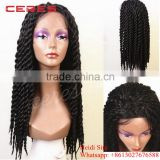 100% Japanese fiber havana mambo twist crochet braids synthetic lace front wig wtih baby hair