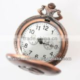 factory direct selling custom made classic bronze quartz antique pocket watches with japan movement
