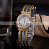 New Sale Women Quartz Rhinestone Watch Silver Gold Stainless Steel Bracelet Round Dial Crystal Ladies Gifts Women Dress Watches