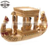 resin ancient Egyptian Craft Egyptian souvenir Golden Egyptian Canopy Boat