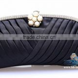 Satin with stone /pearl evening bag Ladies clutch Handbag
