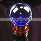 blue crystal ball with laser paperweight for home decorations(R-0695