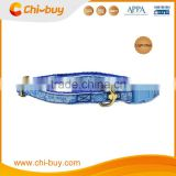 Adjustable Neck Size 20~30cm Sea Turtle Printing Nylon Pet Dog Collar Blue Color, Free Shipping on 49usd order