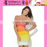2015 OEM sale sexy strapless girl bandage dress Europe market hot selling plus size bodycon bandage dress