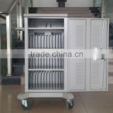 steel mobile network tablet storage and charging cabinet cart sync