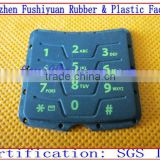 silicone computer keypads with conductive carbon pills spray laser back-lighted button silicone keypad for mobile phone
