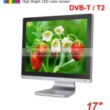 17 inch DVB-T DVB-T2 digital led tv with dvb-t MPEG4 VGA USB TDT terrestrial TV decodificador DVB-T17