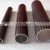 Brown anodized aluminum tubes