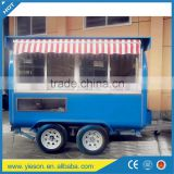 Yieson mobile food truck food vending carts coffee kiosks for sale