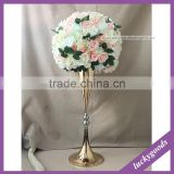 decorative artificial banquet centerpiece flower ball with green leaves