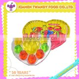 Fruity heart shaped jelly cup