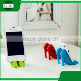 mini silicone portable high-heeled shoes desktop table cell mobile phone bracket stand support holder