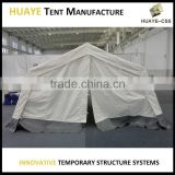 outdoor portable aluminum frame army tent millitary canvas shelter emergency disaster relief shelter
