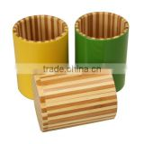Colored bamboo kitchen utensil holder
