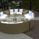 rattan outdoor tea table with chair