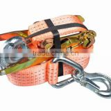 "2"" ratchet tie down with forged security hook, 50mm*8m, two-pieces, 2000/4000DAN, CEGS"