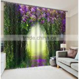 3D fabric customized photo printed curtian simple design blackout bedroom living room curtains