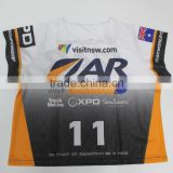One size fits all sublimation printing race bibs, boating singlet/shirts