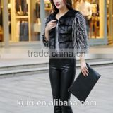 2faux Mink Fur jacket Shiny diamond decoration Mink coat Warm winter faux fur coat Factory outlets