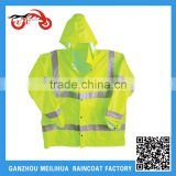 Custom ANSI Class 3 Waterproof Breathable Polyester Safety Reflective Rain Jacket
