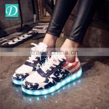 Wholesale Rechargeable Light Flashing Shoes LED Lace-up Flat Shoes
