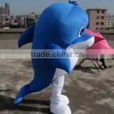 movable dolphin costume adult blue dolphin mascot costume
