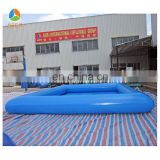 Blue square human balloon inflatable swimming pool
