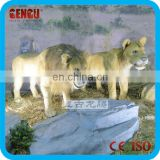 Amusement park outdoor lion garden statues