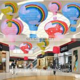Factory Direct Wholesale Fire Balloon Hanging Paper Lanterns for Wedding Party Festival Mall Supermarket Bar KTV Decoration