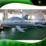 Inflatable Light Blue Dolphin , Add Sexy Hole Inflatable Sex Animal Toy