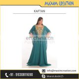 Very Fancy Design Plain Evening Kaftan from Best Selling Brand