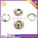 For ornament new item metal 4 parts 333# 10mm stainless ring prong snap button