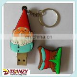 Promotional fancy pvc Santa Claus usb pen drive for Christmas Day.