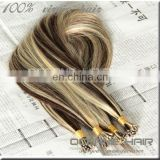 High qulity cheap Brazilian remy human hair two tone piano color hair gray blonde hair