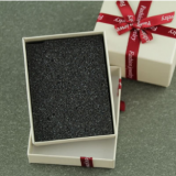 lenny texture paper box with ribbon