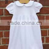 New feeling clothing for kids pretty fashion neck design baby day gown