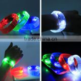 Sound Activated Flashing Bracelet LED Bright Wristband Colorful Blue Green Red